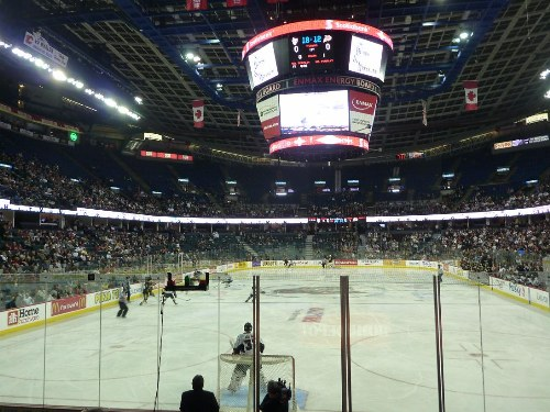 In Arena Shot Wheat Kings Calgary Hit Discussion Photos